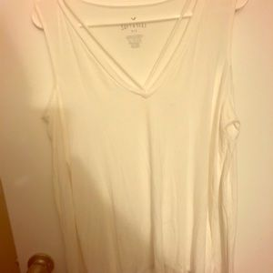 American Eagle Soft and Sexy Cold Shoulder V Neck